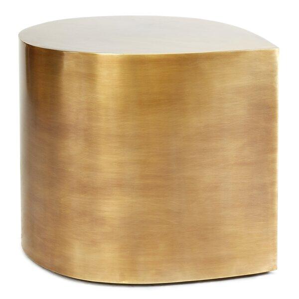 Brass Teardrop End Table by Jonathan Adler