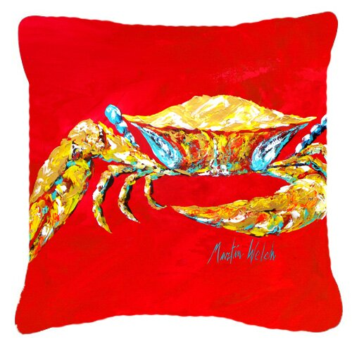 Coastal Crab Blue, Sr Indoor/Outdoor Throw Pillow by East Urban Home