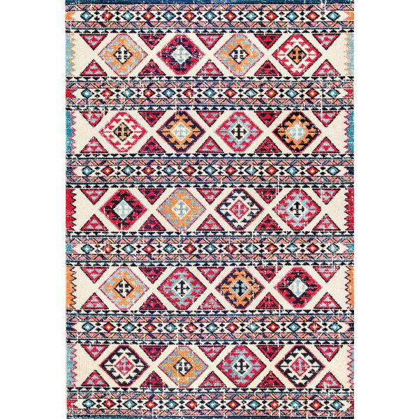 Chagnon Brown/Pink/Black Area Rug by Bungalow Rose