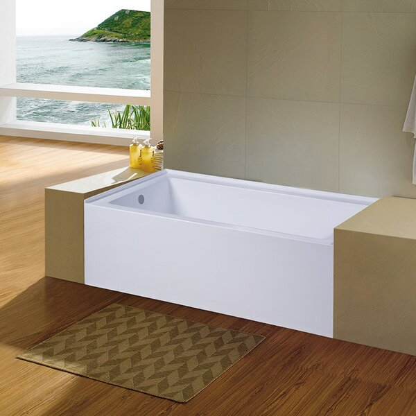 Nova 60'' x 32'' Alcove Soaking Bathtub by Eviva