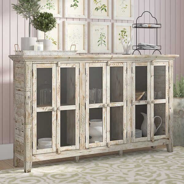 Eau Claire 70-inch Wide Acacia Wood Sideboard By Feminine French Country
