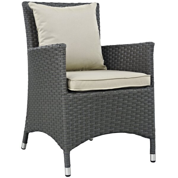 Tripp Patio Dining Chair with Cushion (Set of 4) by Brayden Studio Brayden Studio