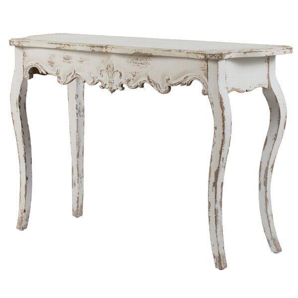 Berumen Console Table - Weathered Off-White By Ophelia & Co.