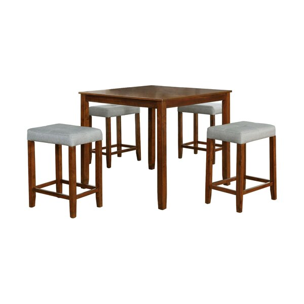 Best #1 Innis 5 Piece Solid Wood Dining Set By Ebern Designs Reviews