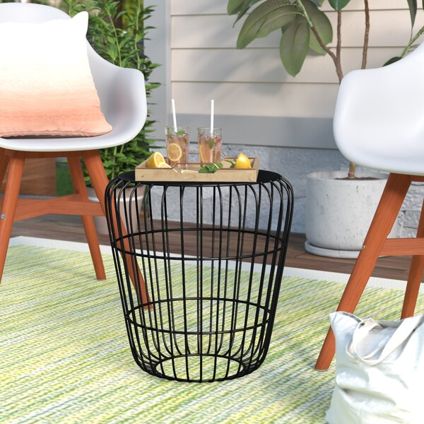 Mcpeters Tin Side Table by Wrought Studio