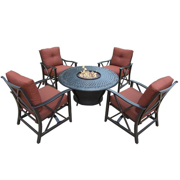 Zoraida 6 Piece Conversation Set with Cushions by Charlton Home