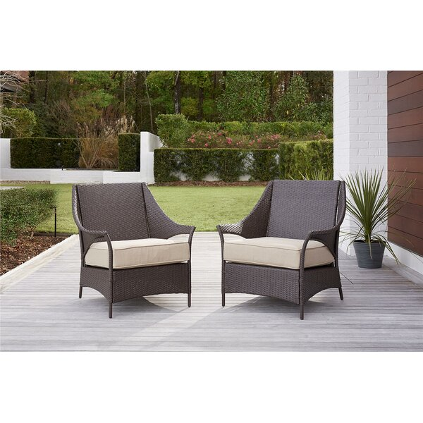 Ismay Outdoor Chair with Cushions (Set of 2) by Greyleigh