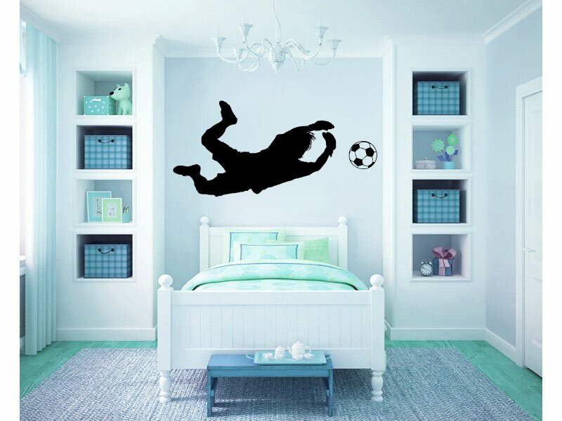 . Football Wall Decals 10 Decals Passionate and Inspirational ,Sport Theme Nursery Art Wall Sticker,playroom Game Football Wall Sticker