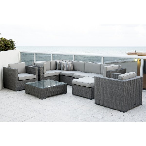 Southampton 9 Piece Sectional Seating Group Set with Cushions by International Home Miami