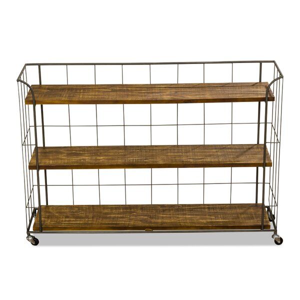 Lobo 31.5 H x 45.3 W Chic Rolling Shelving Unit by 17 Stories