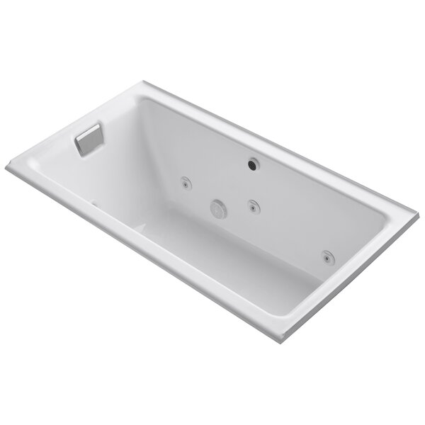 Tea-For-Two Alcove Whirlpool with Left-Hand Drain and Heater without Trim by Kohler
