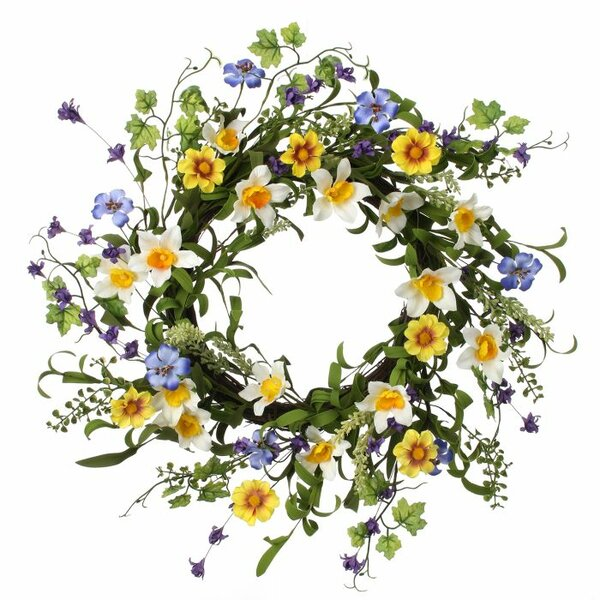 24 Narcissus Wild Flower Wreath by Regency International