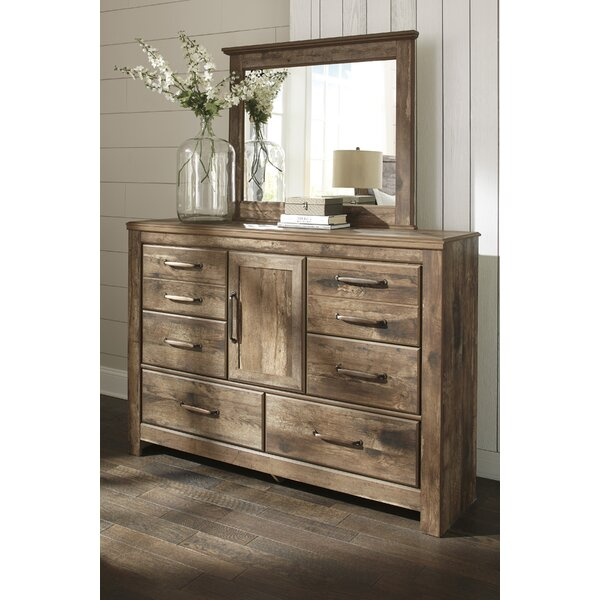 Petersfield 6 Drawer Combo Dresser with Mirror by Three Posts