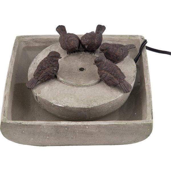 Polystone Bird Fountain by Transpac
