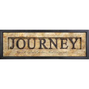 Shadowbox Journey Framed Textual Art by Carpentree