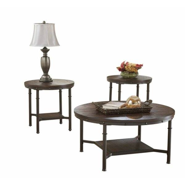 Lockwood 3 Piece Coffee Table Set by 17 Stories