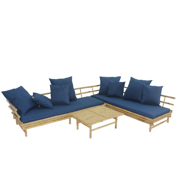Sione 3 Piece Sectional Set with Cushions by Bayou Breeze