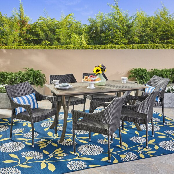 Lincolnwood 7 Piece Dining Set by Highland Dunes