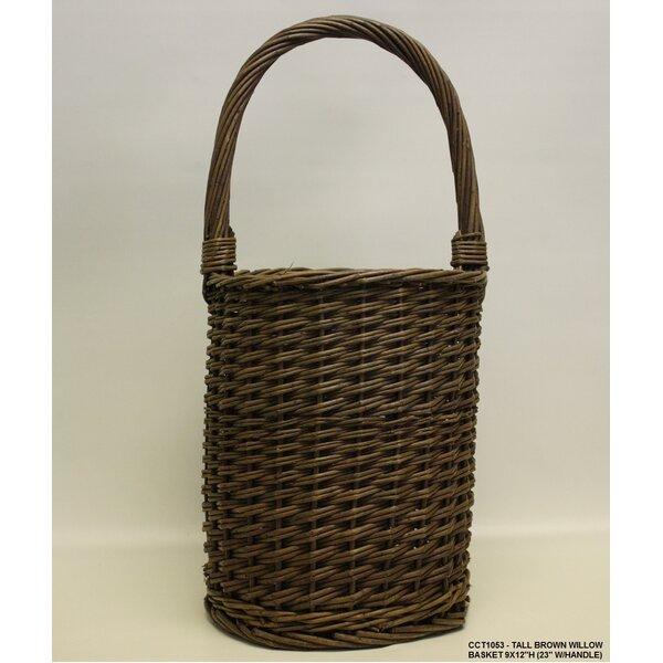 Tall Round Willow Basket by Desti Design