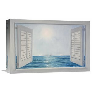 'Open Shutters' by Diane Romanello Painting Print on Wrapped Canvas by Global Gallery