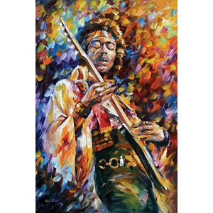Jimi Hendrix Wall Art on Wrapped Canvas by Red Barrel Studio