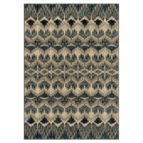 Trentelman Taupe/Blue Area Rug by Ebern Designs