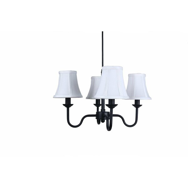 Osias 4 - Light Shaded Classic / Traditional Chandelier By Charlton Home