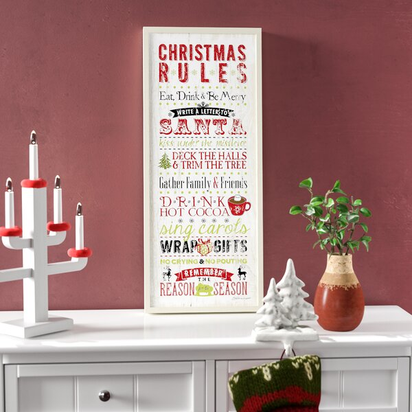 Christmas Rules Textual Art By Andover Mills.