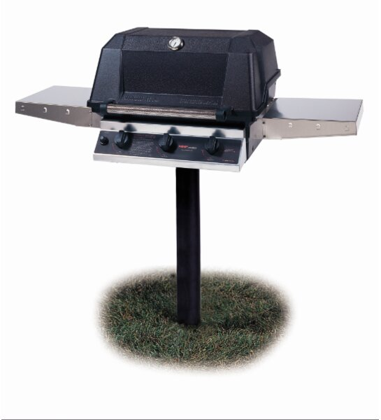 Heritage 3-Burner Natural Gas Grill with Side Shelves by Modern Home Products