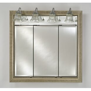 Afina medicine cabinets youll love wayfair signature 44 x 34 recessed medicine cabinet with lighting aloadofball Gallery