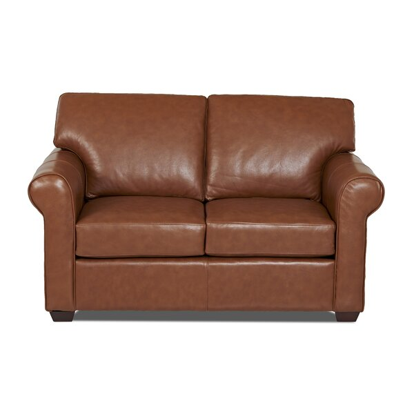 Rachel Leather Loveseat by Wayfair Custom Upholstery™