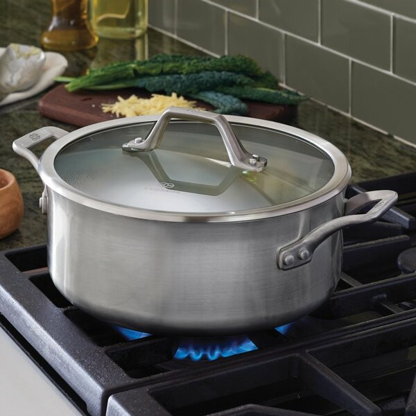 Calphalon Signature™ 5-qt Stainless Steel Round Dutch Oven with Lid by Calphalon
