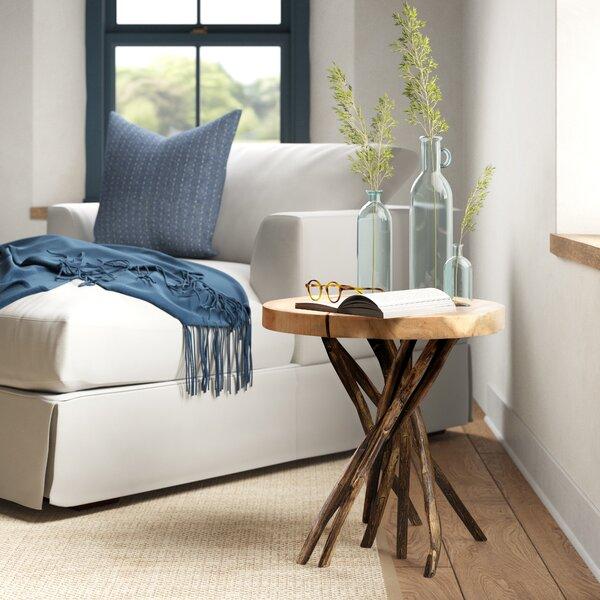 Stilwell Solid Wood Tree Stump End Table By Loon Peak®