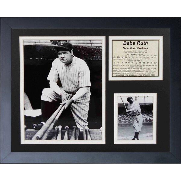 Babe Ruth On Steps Framed Memorabilia by Legends Never Die