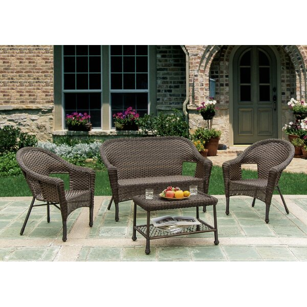 Heider 4 Piece Conversation Sofa Seating Group By August Grove