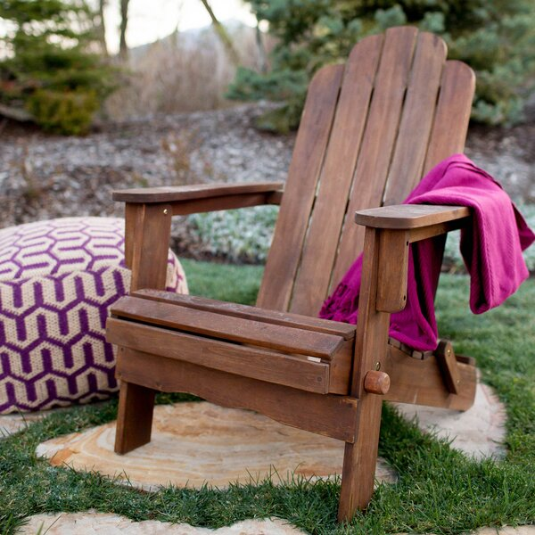 Solid Wood Folding Adirondack Chair by Birch Lane™