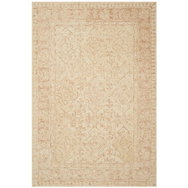 Chancellor Hand-Tufted Wool Ivory Area Rug by Bungalow Rose