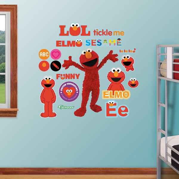 RealBig Sesame Street, Elmo Wall Decal by Fathead