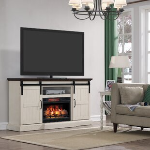Glendora 66.5 TV Stand with Electric Fireplace