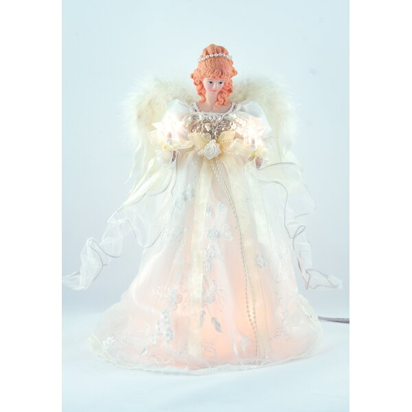 Ivory Angel Tree Topper by The Holiday Aisle