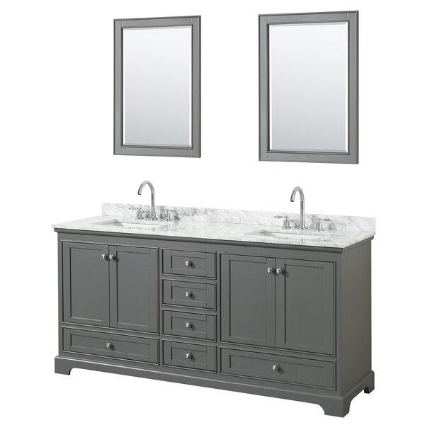 Deborah 72 Double Bathroom Vanity Set with Mirror by Wyndham Collection