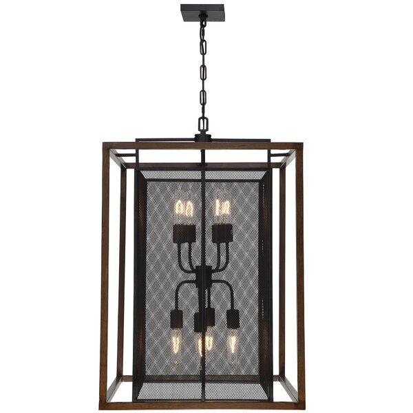 Minor 8 - Light Lantern Rectangle Chandelier by Union Rustic Union Rustic