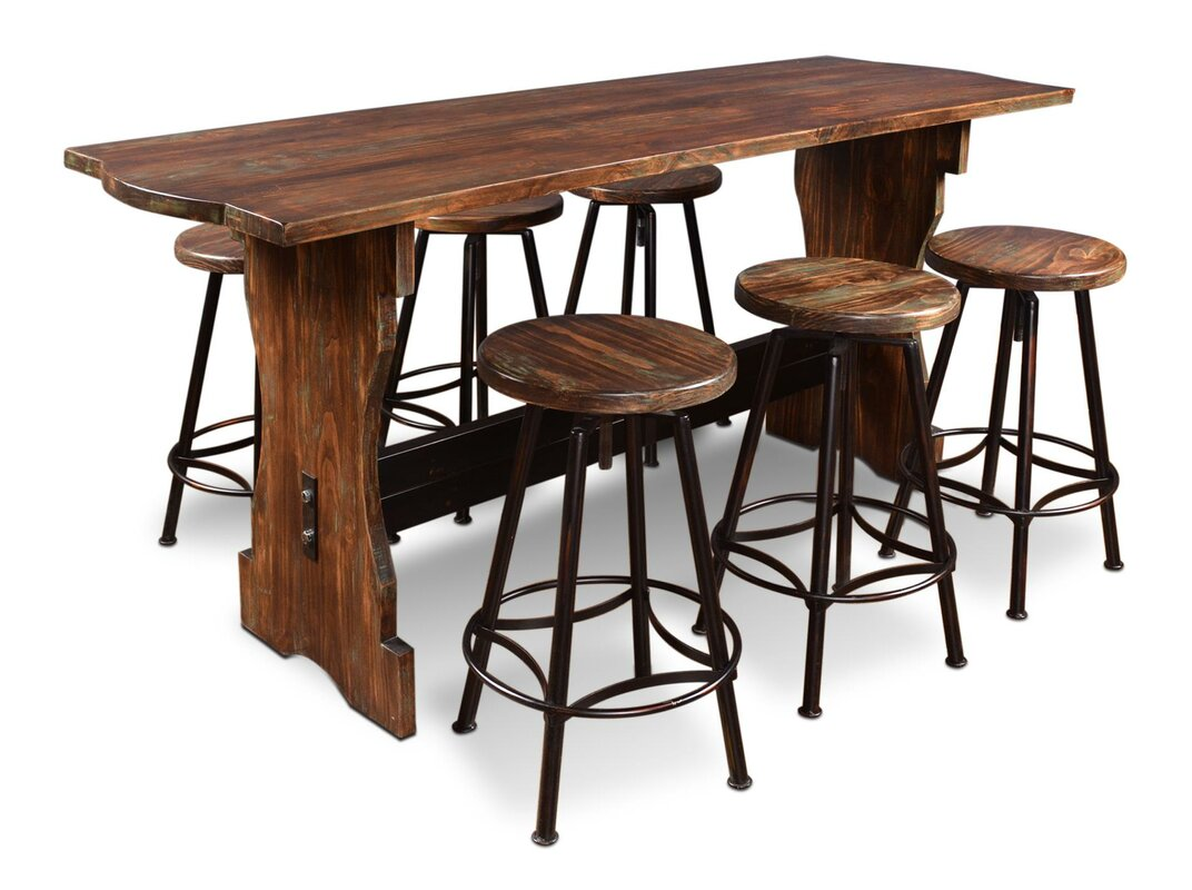 Laurel Foundry Modern Farmhouse Connery 7 Piece Counter Height Pub ...