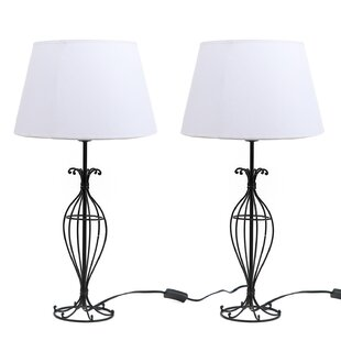 Dei wayfair wire 255 table lamp set of 2 greentooth Gallery