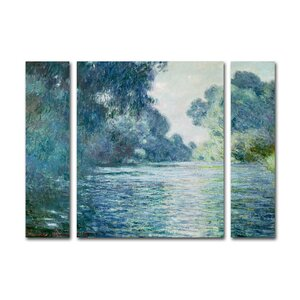 'Branch of the Seine' 3 Piece Painting Print on Wrapped Canvas Set by Ophelia & Co.