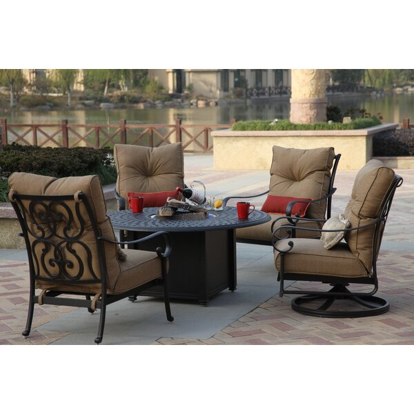 Lanesville 5 Piece Seating Group with Cushion by Darby Home Co Darby Home Co