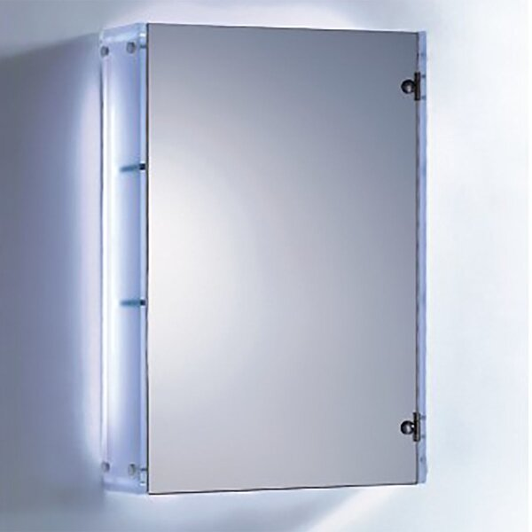 19 W x 35 H Wall Mounted Cabinet by Fab Glass and Mirror