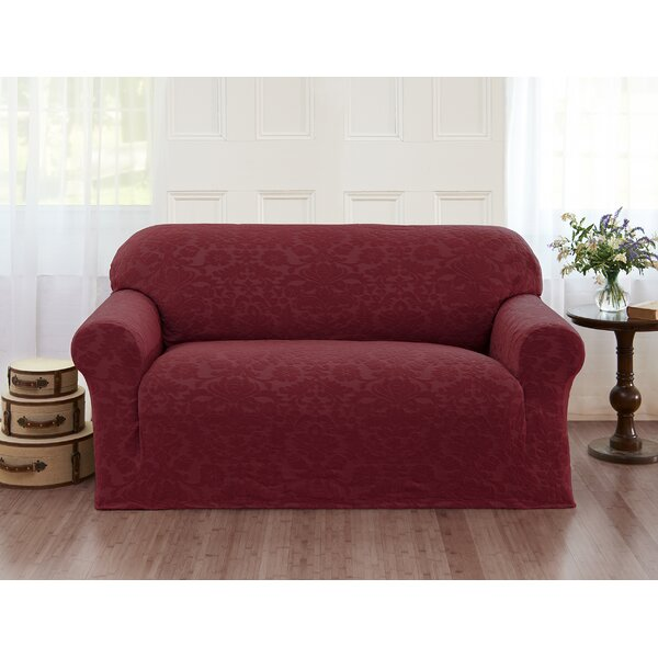 Damask T-Cushion Loveseat Slipcover By Alcott Hill