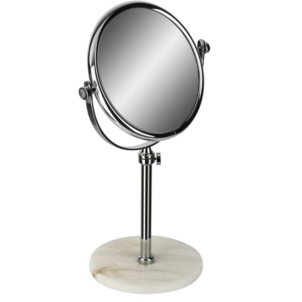 Kolb Alabaster Double-Sided Extendable Makeup/Shaving Mirror by Symple Stuff