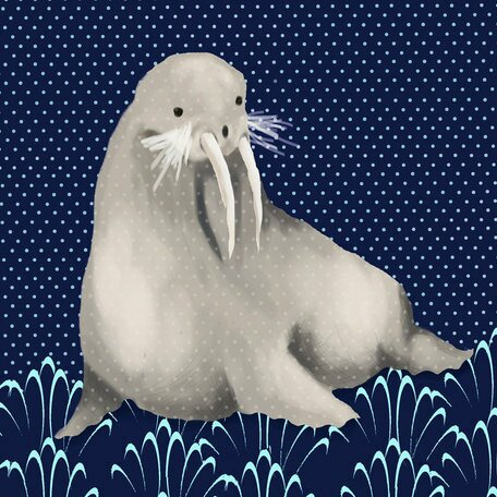 Francis the Walrus Canvas Art by Oopsy Daisy